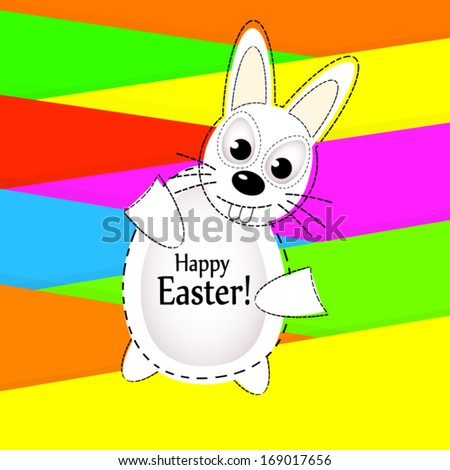 Easter bunny. Happy Easter! Vector - stock vector