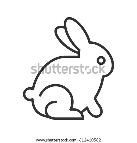 Easter Bunny Linear Icon Thin Line Illustration Rabbit Contour Symbol Vector Isolated Outline