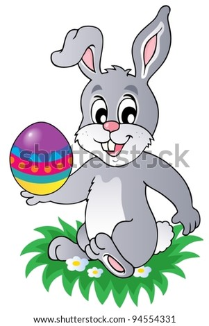 Easter bunny theme image 1 - vector illustration.