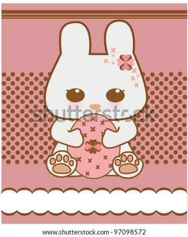 Easter bunny vector - stock vector