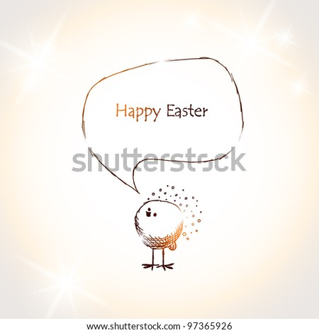 Easter chick, eps10 - stock vector