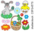 Easter collection 01 - vector illustration. - stock vector