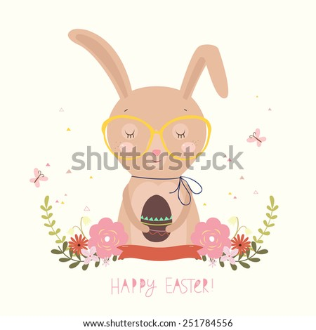 Easter Day background or card. Vector illustration. - stock vector