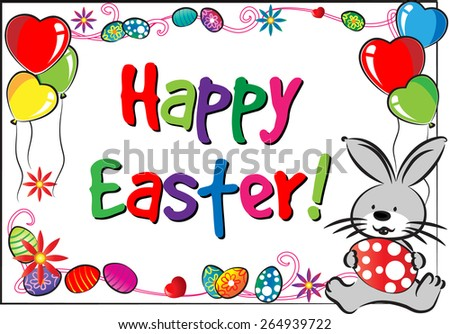 Easter Day card with rabbit