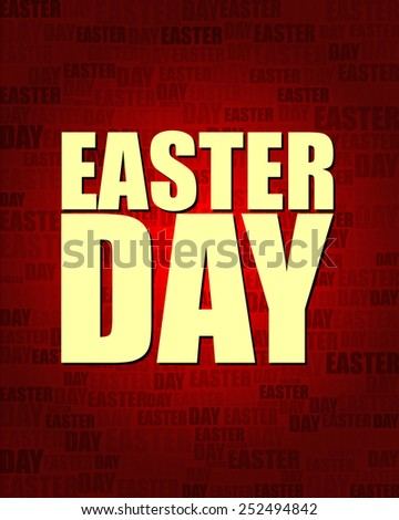 Easter Day with same text on red gradient background.
