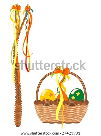 Easter decoration vector - stock vector