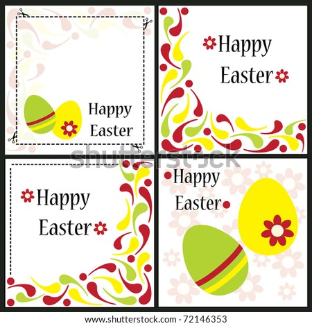 Easter decorative card - stock vector