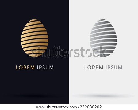 Easter ,egg, abstract, symbol, logo, Vector. - stock vector