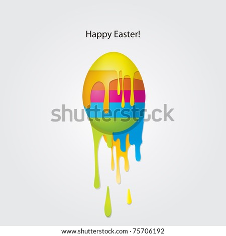 easter egg card - stock vector
