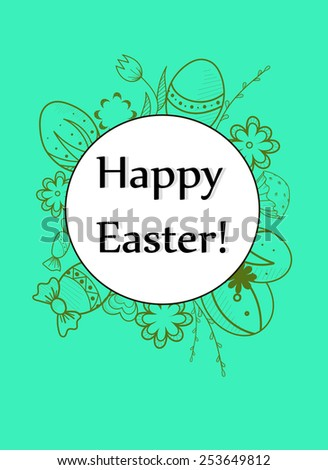 Easter egg card 4 vector illustration