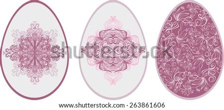 Easter egg design  - stock vector