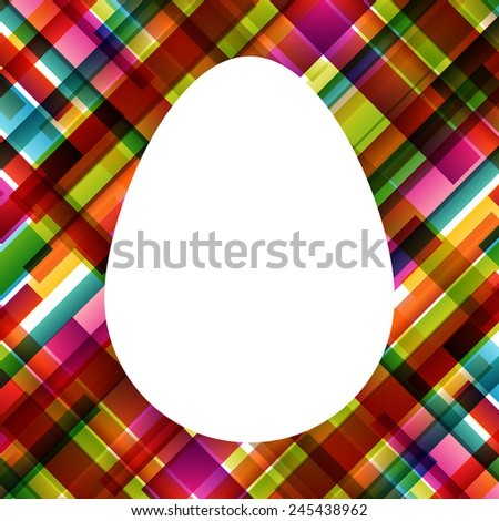 Easter egg fresh spring color line abstract background illustration vector - stock vector
