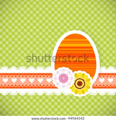 Easter egg from paper Easter card vector background eps 10 - stock vector