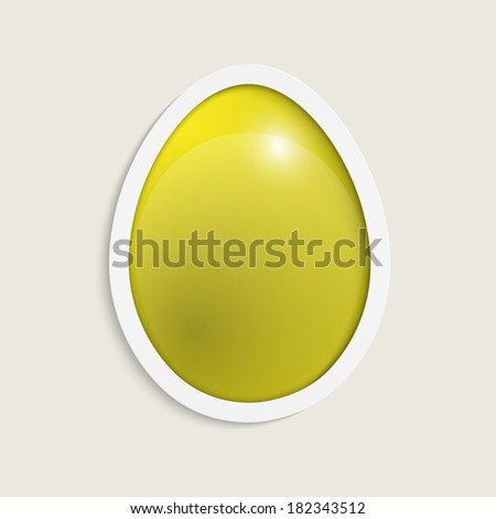 Easter egg. Happy easter card. Vector illustration. - stock vector