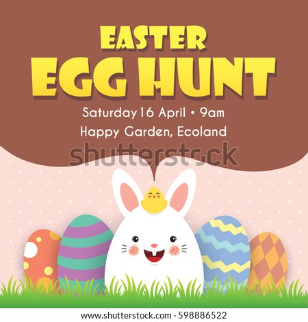 Easter Egg Hunt Vector Stock Images RoyaltyFree Images  Vectors
