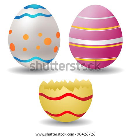 easter egg icons - stock vector