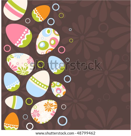 Easter egg pink background - stock vector