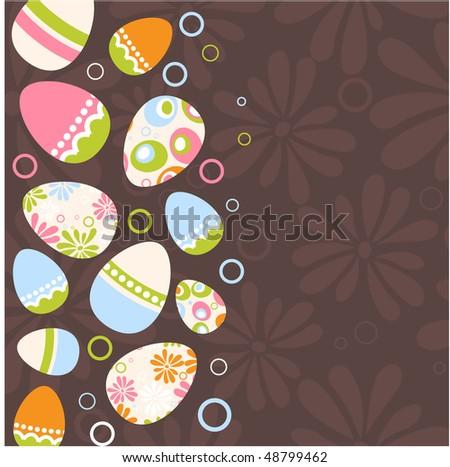 Easter egg pink background - stock vector
