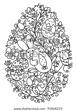 butterfly easter egg coloring pages - photo#16