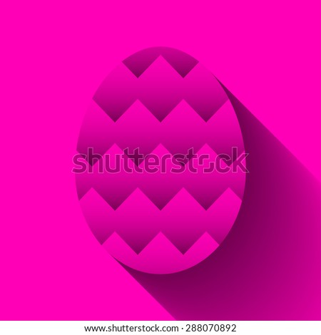 Easter egg symbol with zigzag pattern for greeting cards, decoration, icon designs and as part of other creative works.Editable vector with several layers.Eps 10 - stock vector
