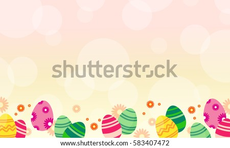 Easter egg theme greeting card