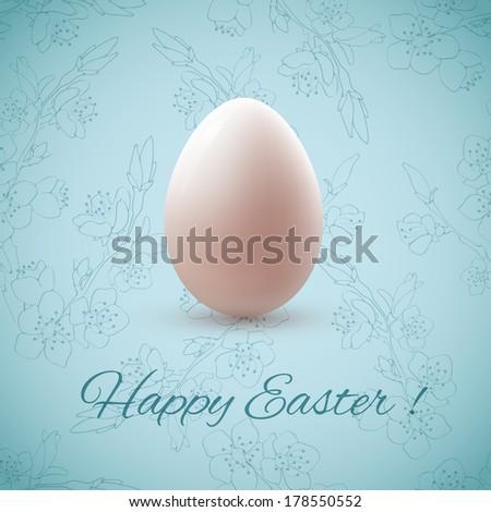 Easter egg. Vector illustration. - stock vector