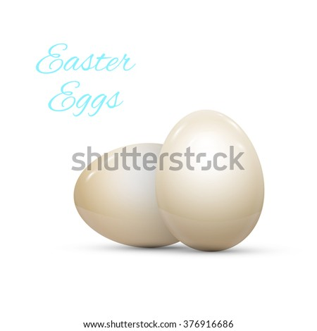 Easter Egg with Pattern Isolated on White Vector illustration