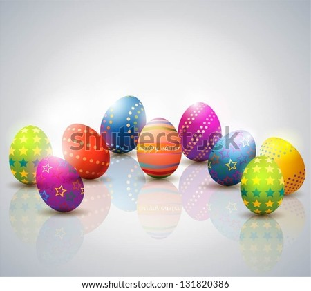 Easter Eggs Background. - stock vector