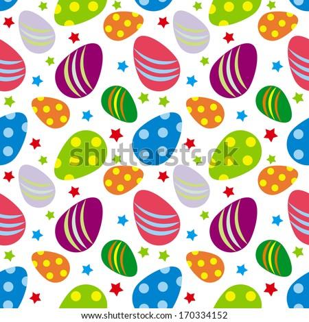 Easter eggs background - stock vector