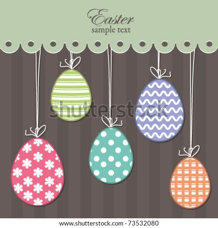 Easter eggs background, card - stock vector