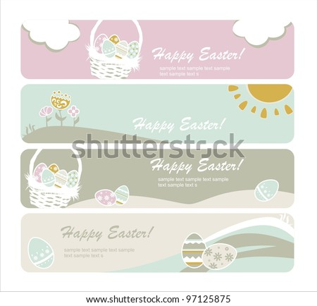 Easter eggs card - stock vector