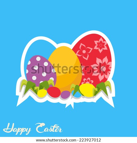 Easter eggs. Vector. Flat style  - stock vector