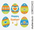 Easter eggs. Vector illustration. - stock vector