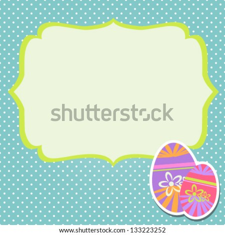 Easter Eggs With Background - stock vector