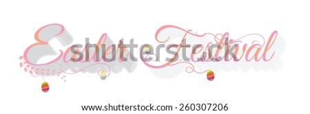 Easter festival Typographical Background - stock vector
