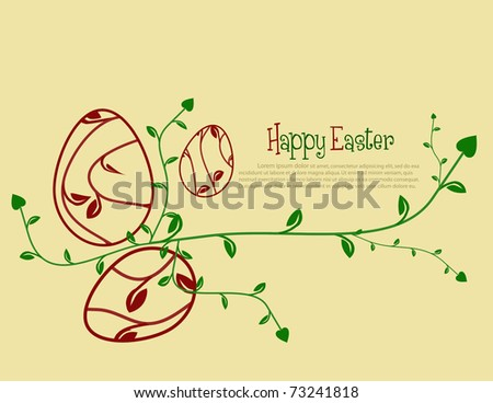 Easter floral background.Vector illustration.