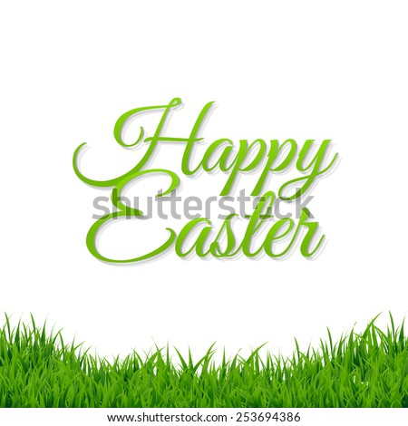 Easter Grass Border With Gradient Mesh, Vector Illustration - stock vector