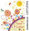 Easter greeting abstract card - stock vector