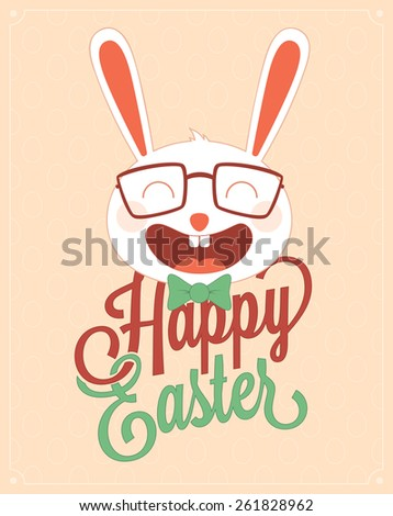 Easter greeting card design.Vector illustration - stock vector