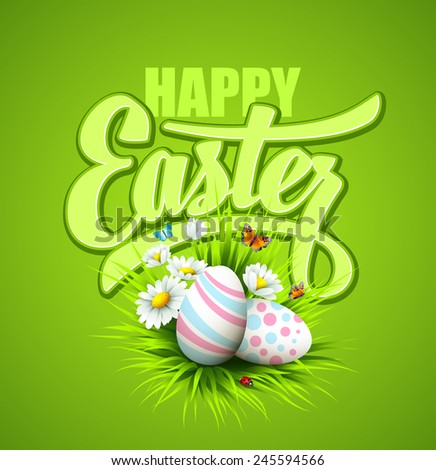 Easter greeting. Vector illustration - stock vector