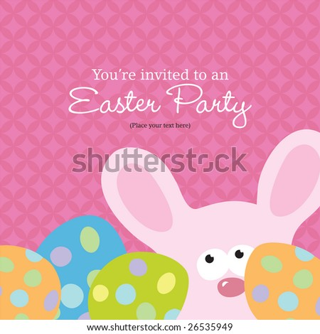 Easter Invite Template (more in portfolio) - stock vector