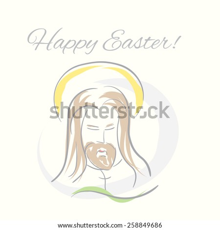 Easter Jesus hand drawn illustration - stock vector