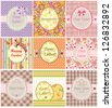 Easter labels - stock vector