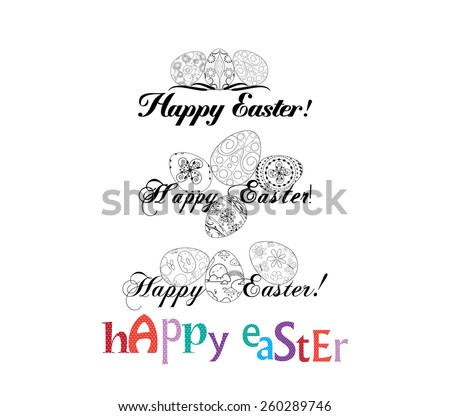 Easter Labels and Badges - stock vector