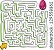 Easter labyrinth with Easter eggs, vector - stock photo