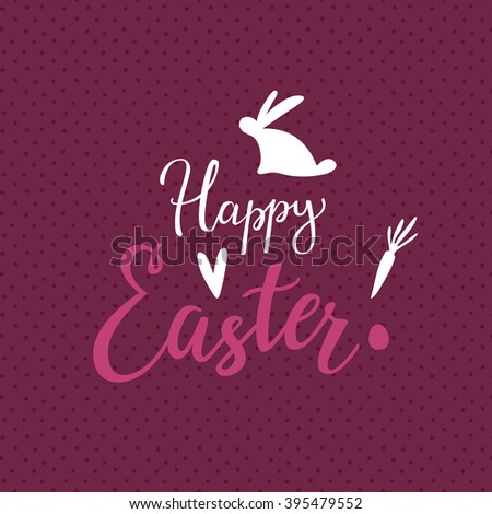 Easter Lettering Background With Script Typography - stock vector