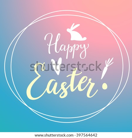 Easter Modern Gradient Background With Typography - stock vector