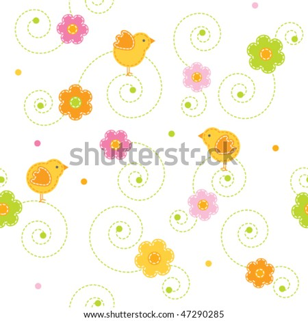 Easter pattern - stock vector