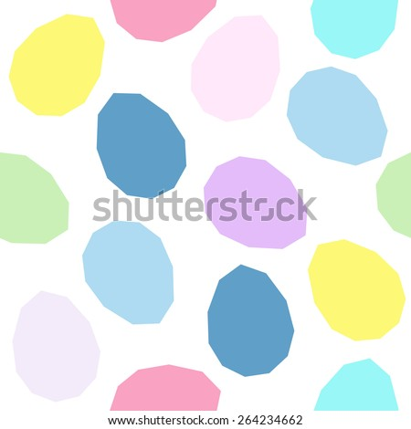 Easter pattern decoration. Easter eggs with simplified form. Seamless vector pattern. Stylized background with colorful eggs. Seamless holiday backdrop. - stock vector