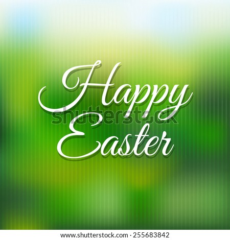 Easter Poster With Blur With Gradient Mesh, Vector Illustration - stock vector